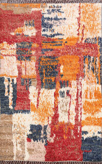 Abstract Moroccan Oriental Area Rug 5x6
