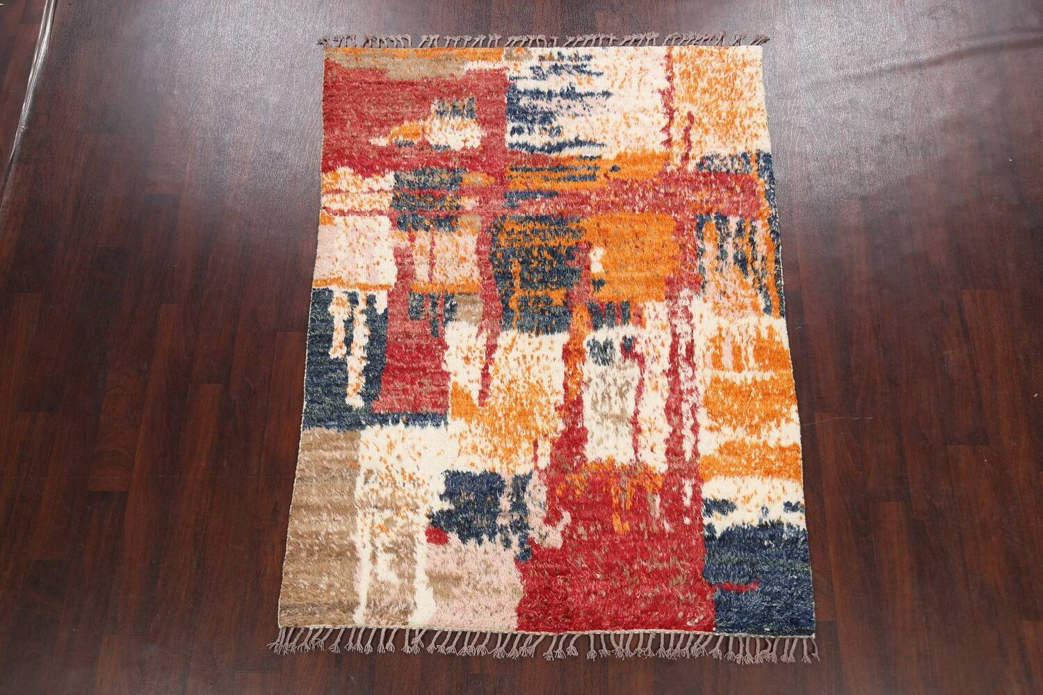 Abstract Moroccan Oriental Area Rug 5x6 image 2