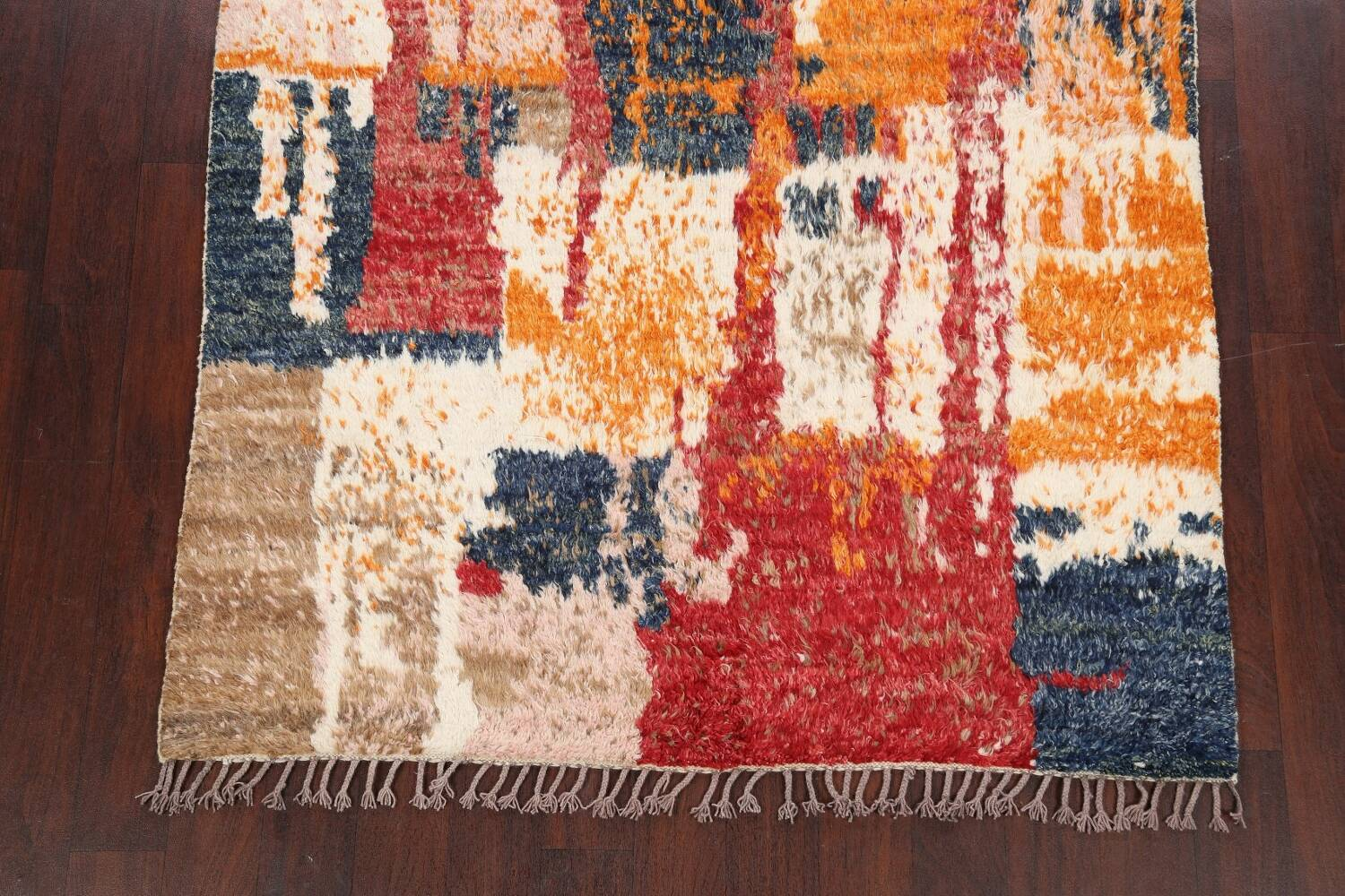 Abstract Moroccan Oriental Area Rug 5x6 image 8