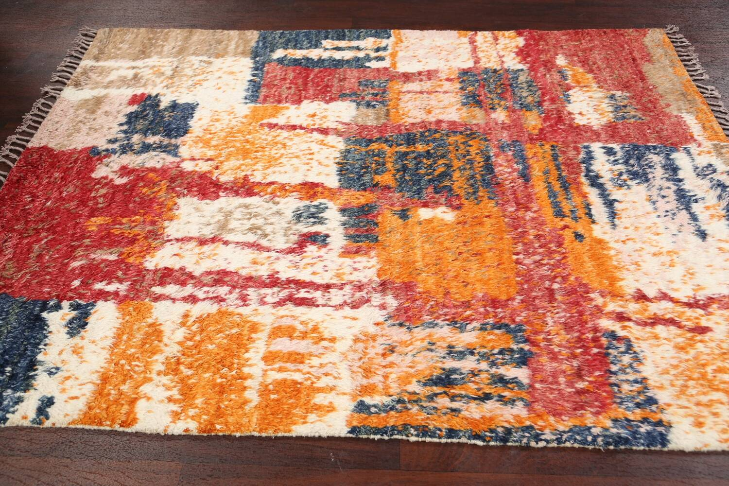 Abstract Moroccan Oriental Area Rug 5x6 image 12
