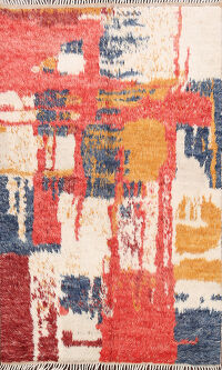 Abstract Moroccan Oriental Area Rug 5x7