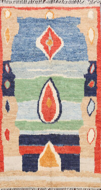 Abstract Moroccan Oriental Area Rug 5x8