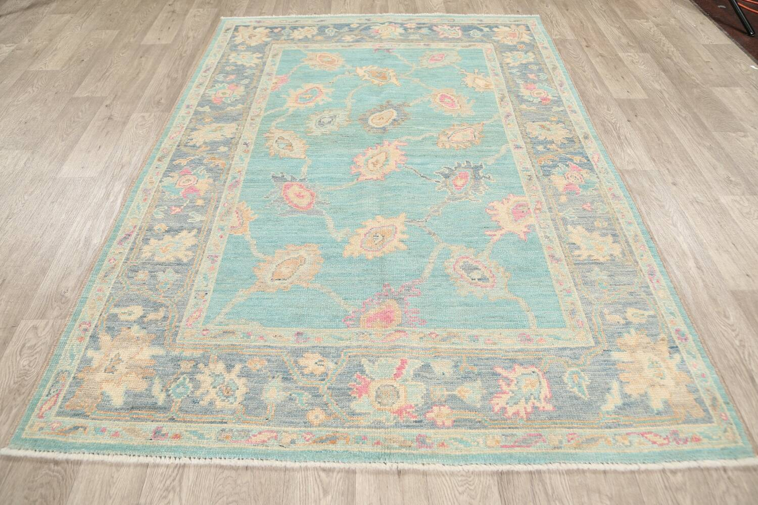All-Over Oushak Oriental Area Rug 5x7 image 13