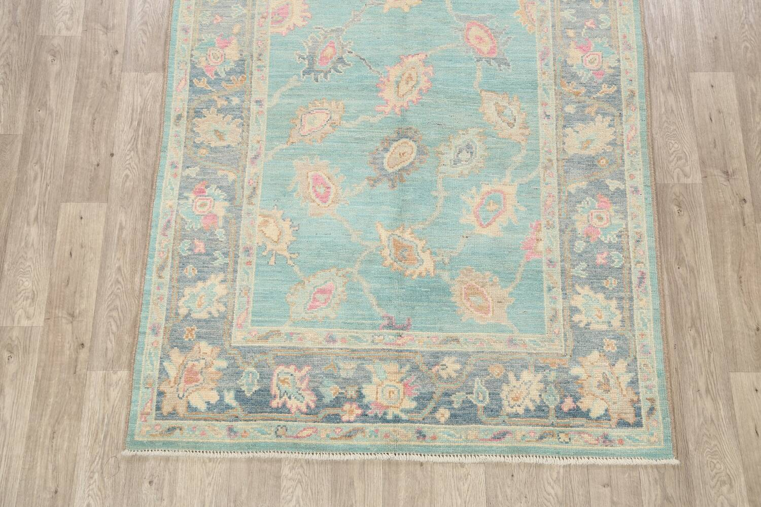 All-Over Oushak Oriental Area Rug 5x7 image 8