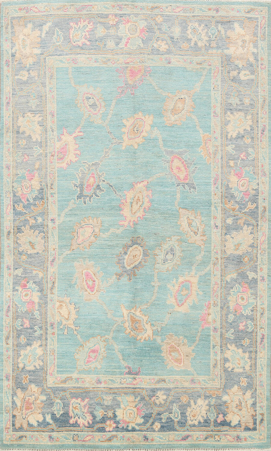All-Over Oushak Oriental Area Rug 5x7 image 1