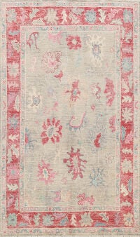 All-Over Oushak Oriental Area Rug 5x7