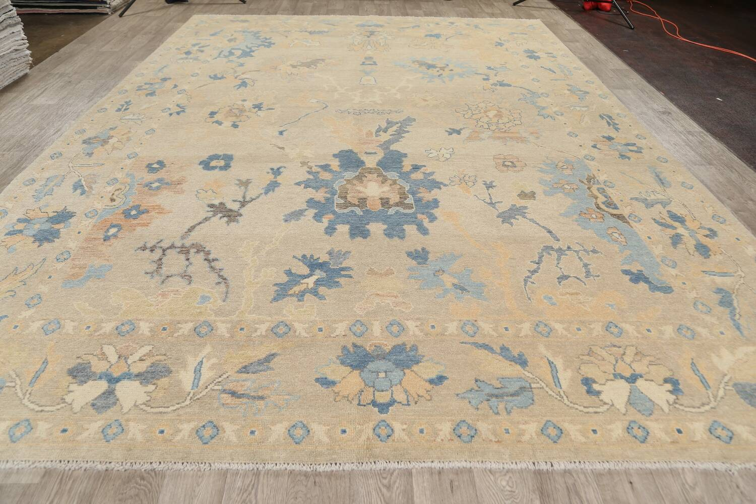 All-Over Oushak Oriental Area Rug 10x13 image 15