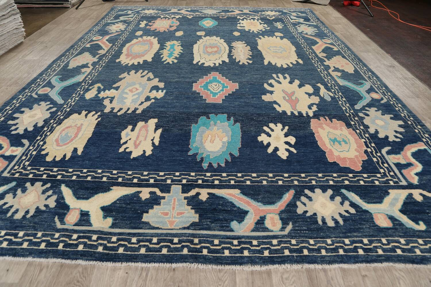 All-Over Oushak Oriental Area Rug 10x14 image 14