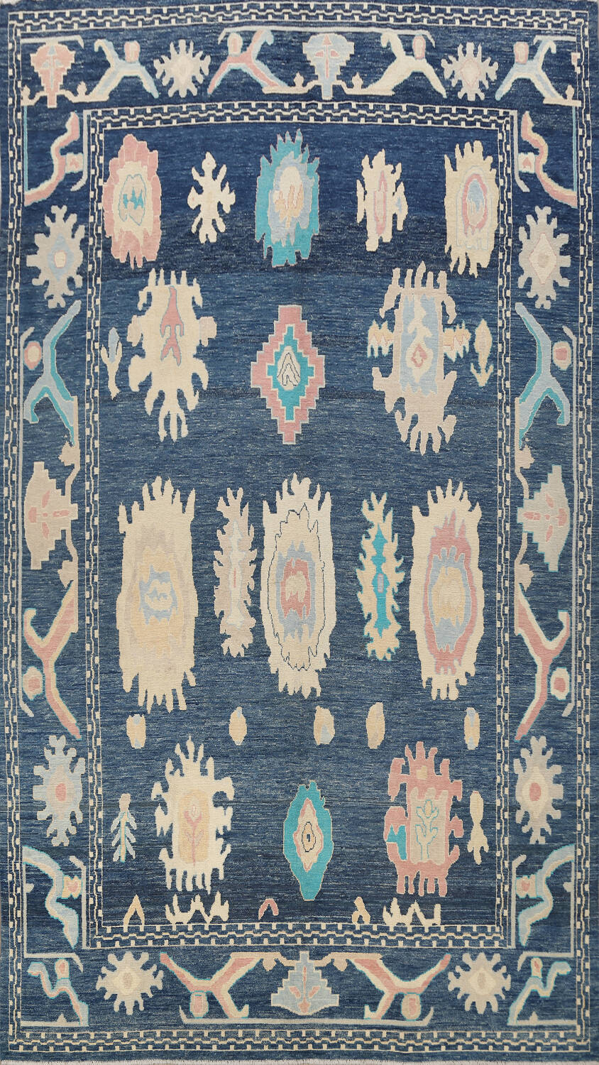 All-Over Oushak Oriental Area Rug 10x14 image 1