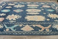 All-Over Oushak Oriental Area Rug 10x14 image 13
