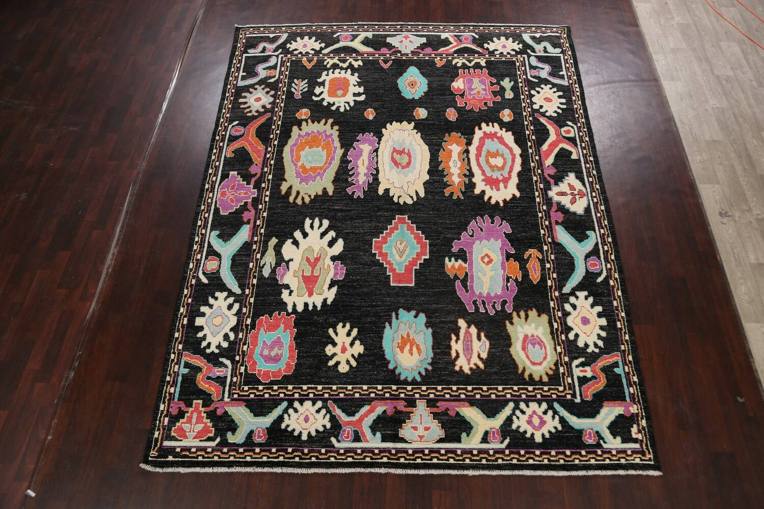All-Over Authentic Oushak Turkish Oriental Area Rug 9x11 image 2