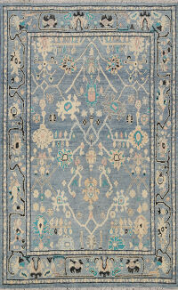 Floral Authentic Oushak Turkish Oriental Area Rug 5x6
