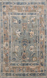Floral Oushak Oriental Area Rug 6x8