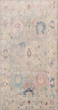 Floral Authentic Oushak Turkish Oriental Area Rug 6x9