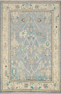 All-Over Oushak Oriental Area Rug 5x6