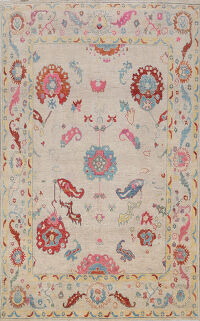 All-Over Oushak Oriental Area Rug 8x10
