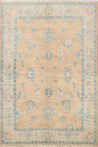 Floral Oushak Oriental Area Rug 5x6