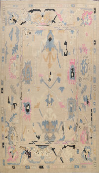 Abstract Oushak Oriental Area Rug 10x14