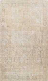 Antique Muted Distressed Tabriz Persian Area Rug 9x12