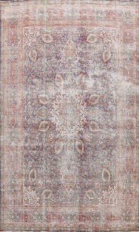 Antique Distressed Floral Tabriz Persian Area Rug 10x13