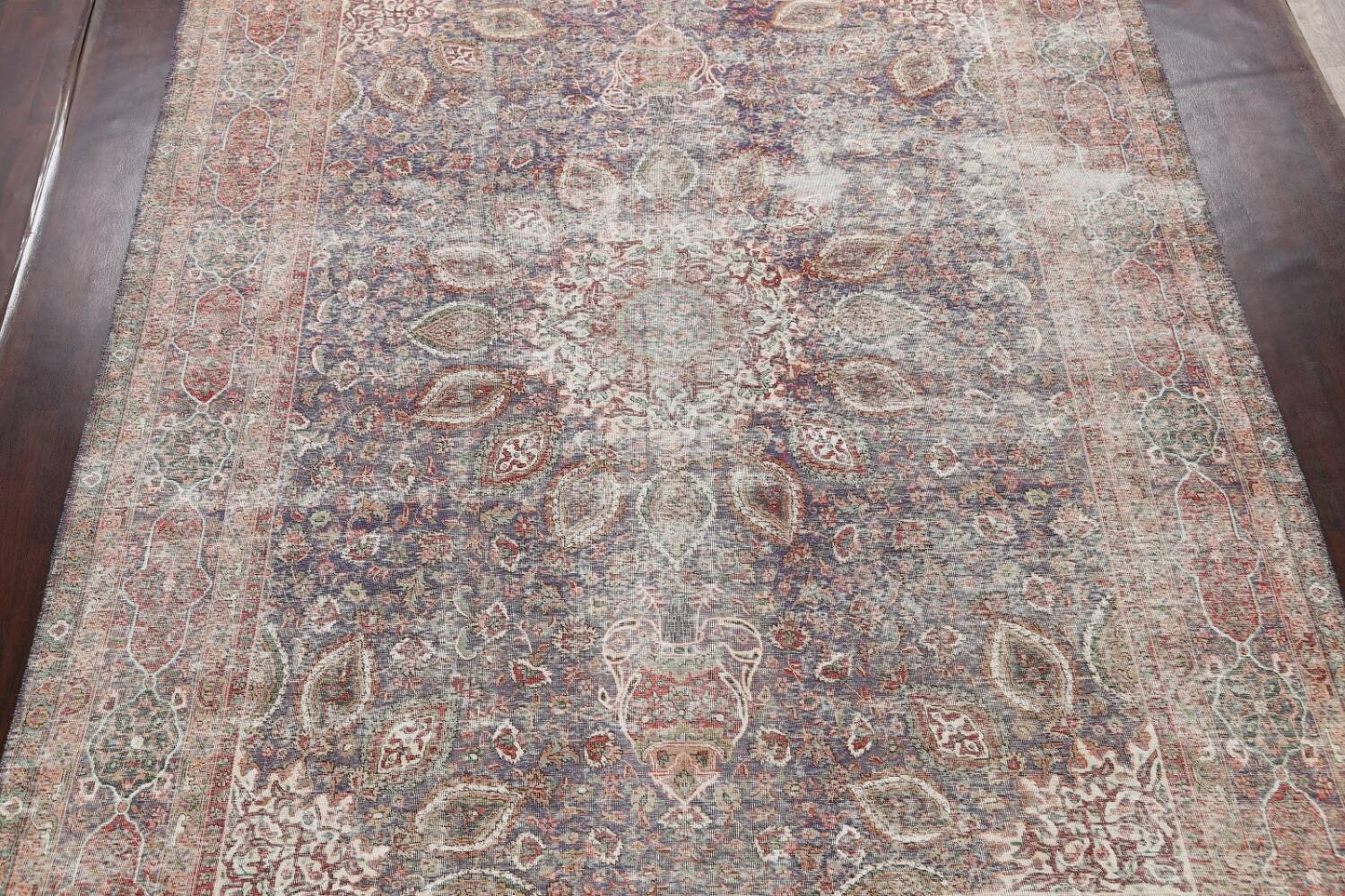 Antique Distressed Floral Tabriz Persian Area Rug 10x13 image 3