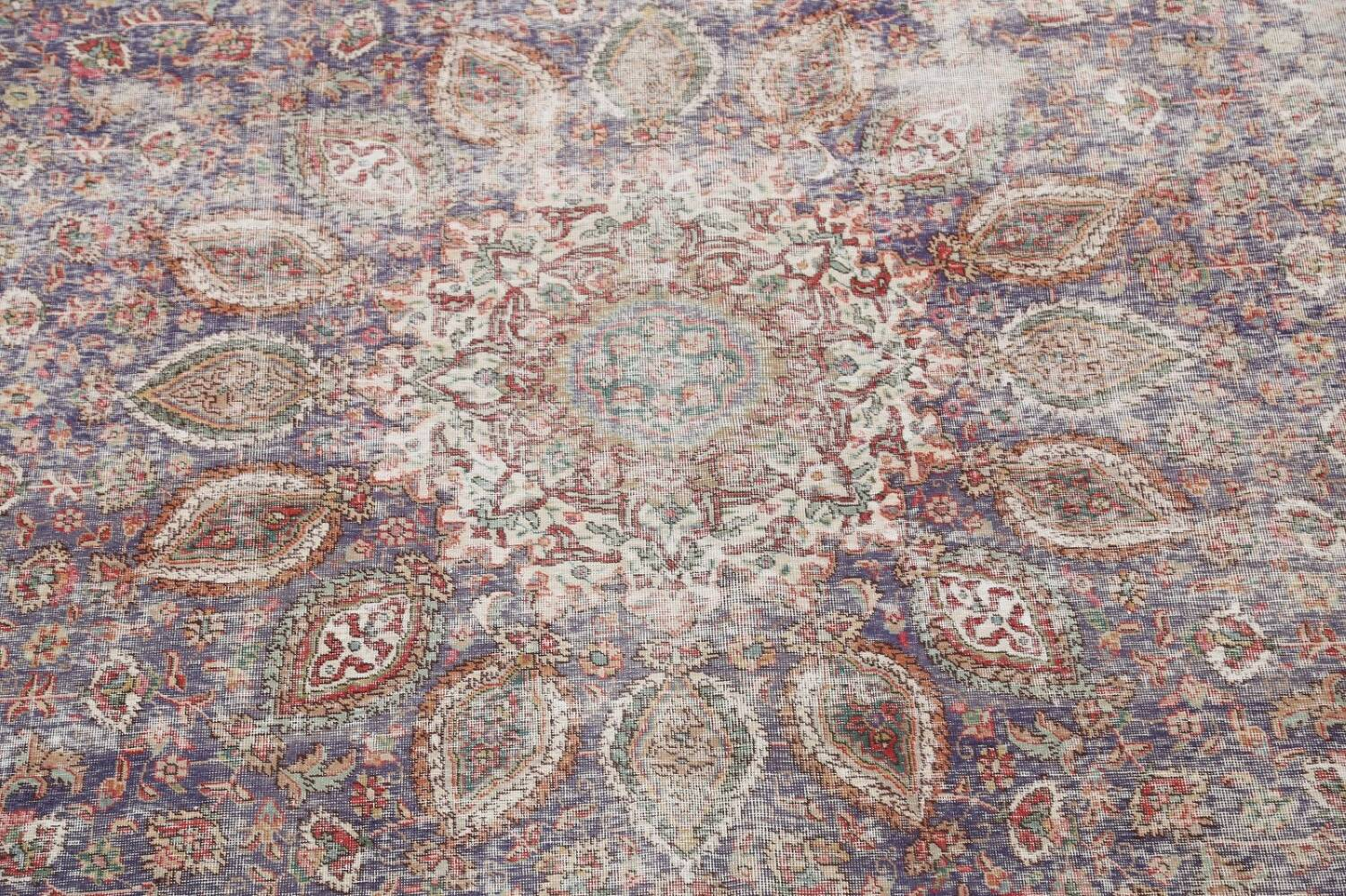 Antique Distressed Floral Tabriz Persian Area Rug 10x13 image 4