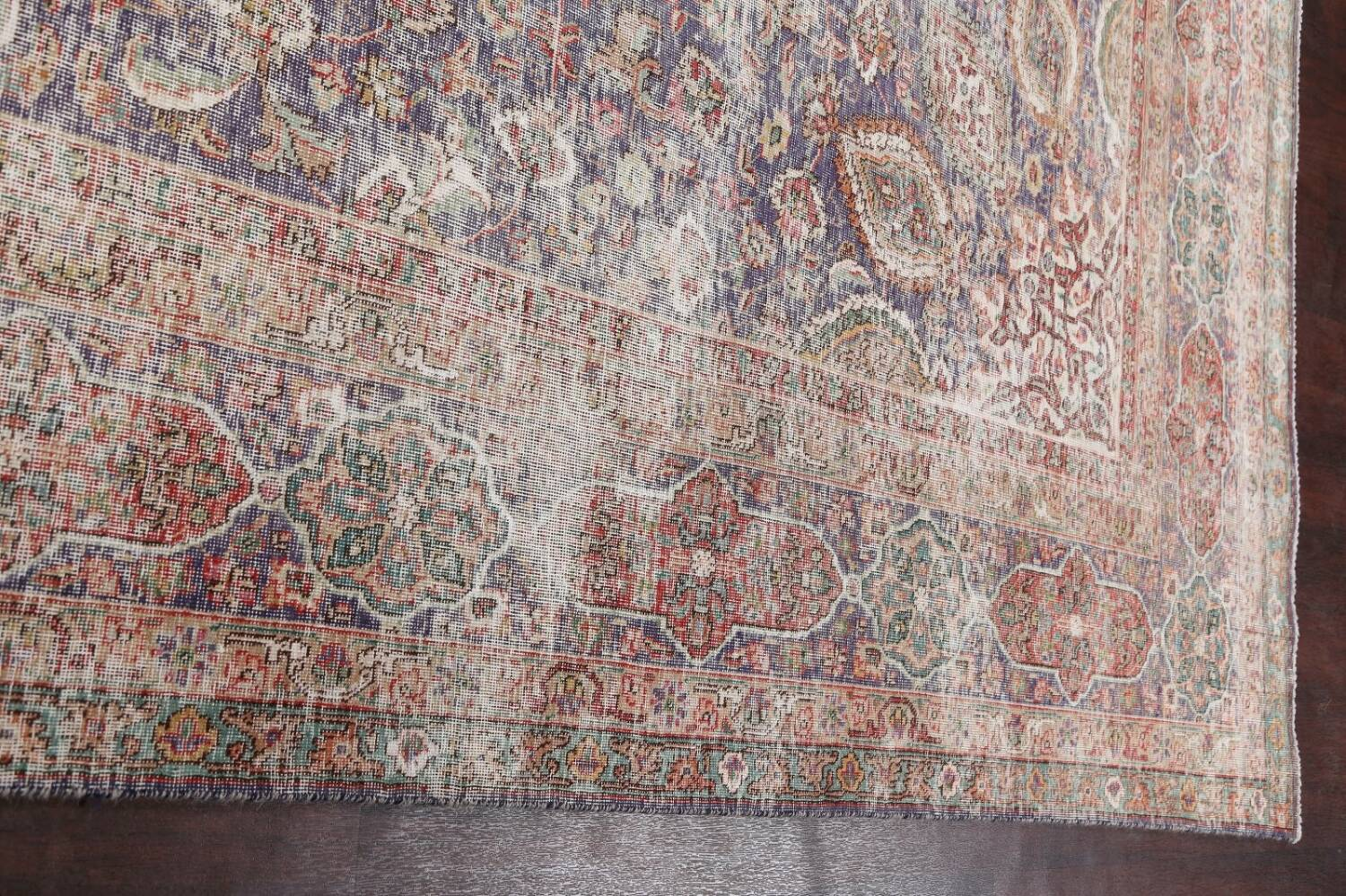 Antique Distressed Floral Tabriz Persian Area Rug 10x13 image 15