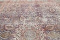 Antique Distressed Floral Tabriz Persian Area Rug 10x13 image 14