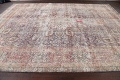 Antique Distressed Floral Tabriz Persian Area Rug 10x13 image 13