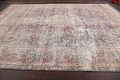 Antique Distressed Floral Tabriz Persian Area Rug 10x13 image 16