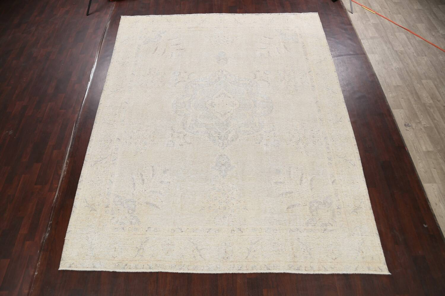 Antique Muted Distressed Tabriz Persian Area Rug 10x12 image 2