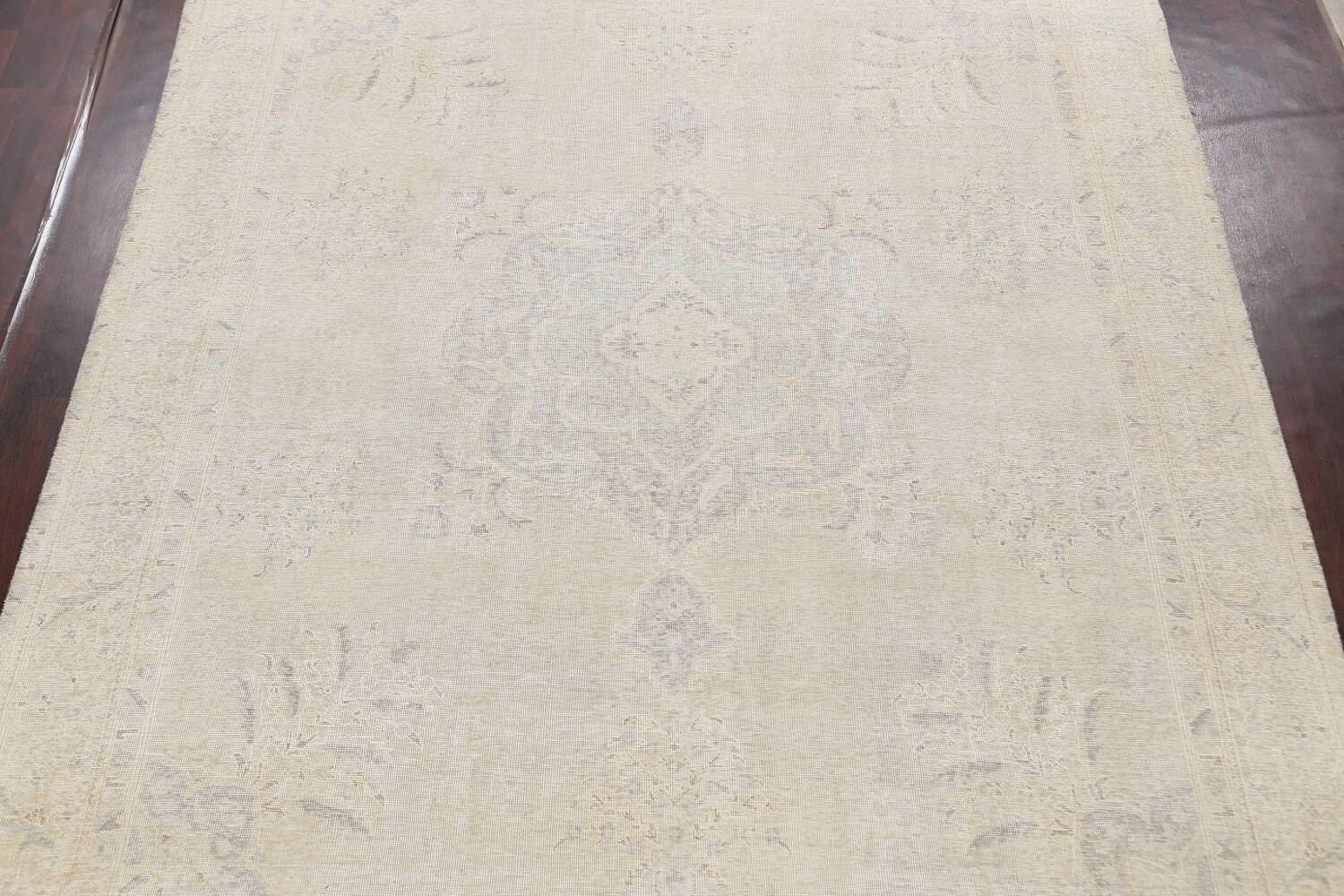 Antique Muted Distressed Tabriz Persian Area Rug 10x12 image 3