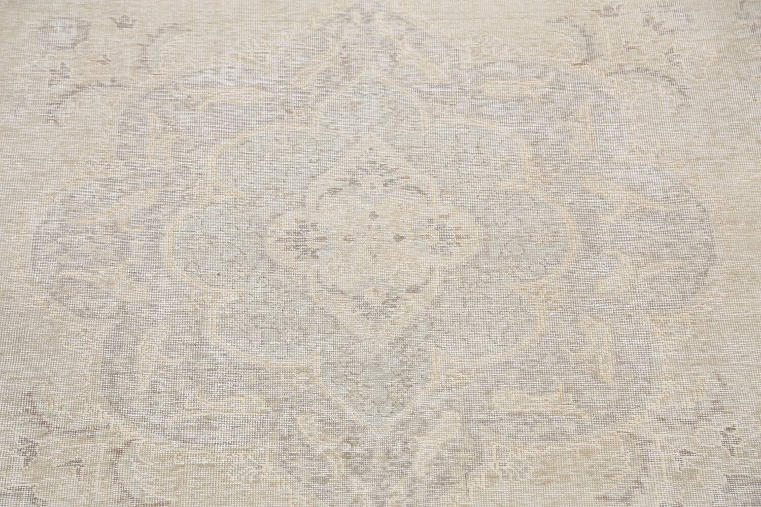 Antique Muted Distressed Tabriz Persian Area Rug 10x12 image 4