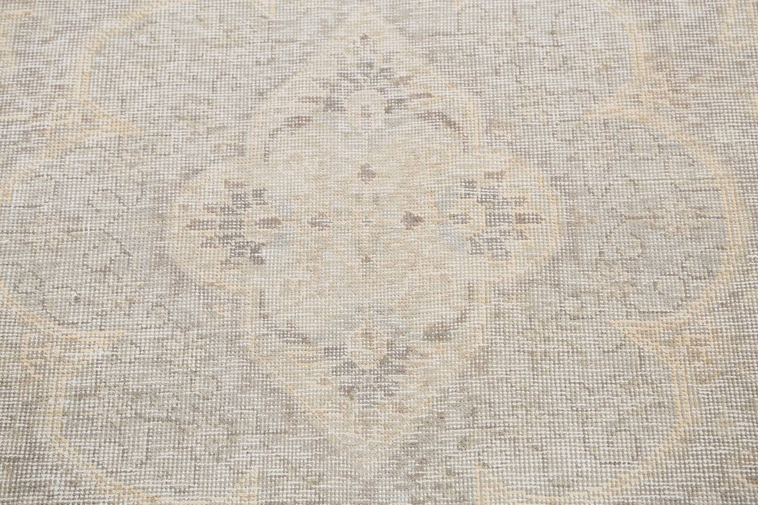 Antique Muted Distressed Tabriz Persian Area Rug 10x12 image 11