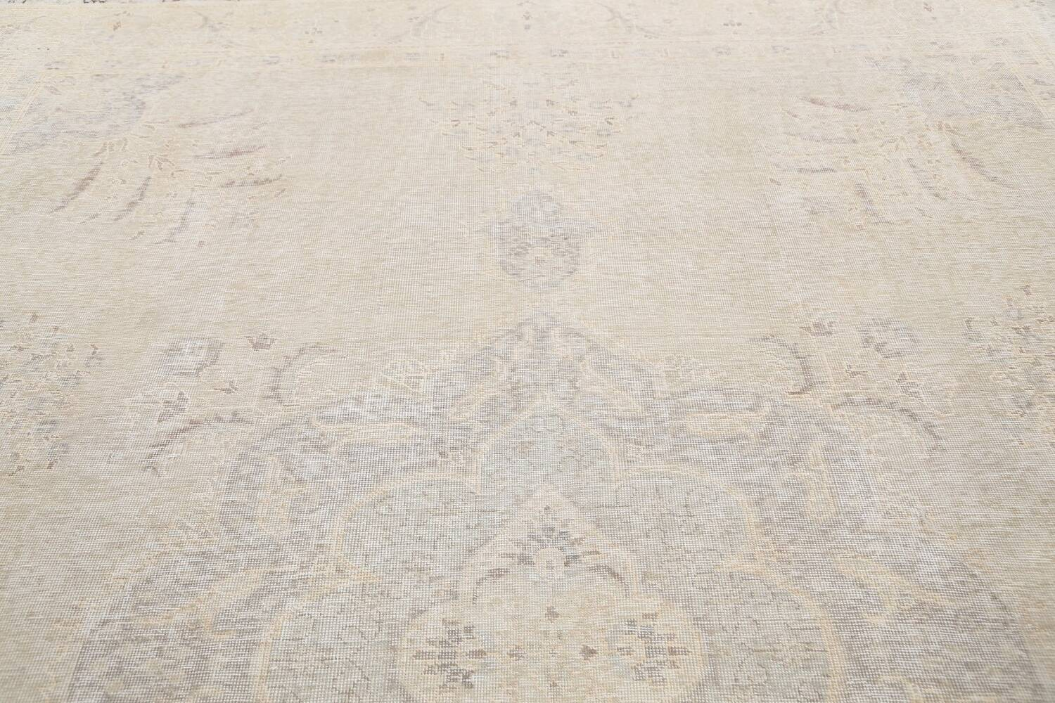 Antique Muted Distressed Tabriz Persian Area Rug 10x12 image 12