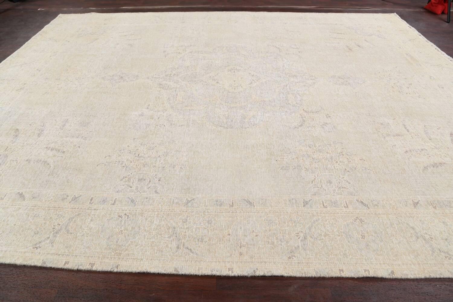 Antique Muted Distressed Tabriz Persian Area Rug 10x12 image 14
