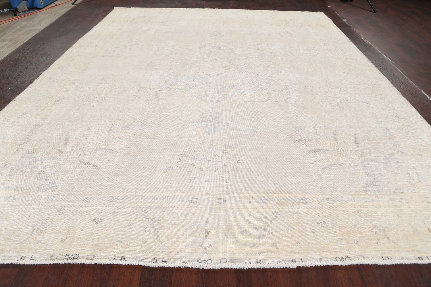 Antique Muted Distressed Tabriz Persian Area Rug 10x12 image 15