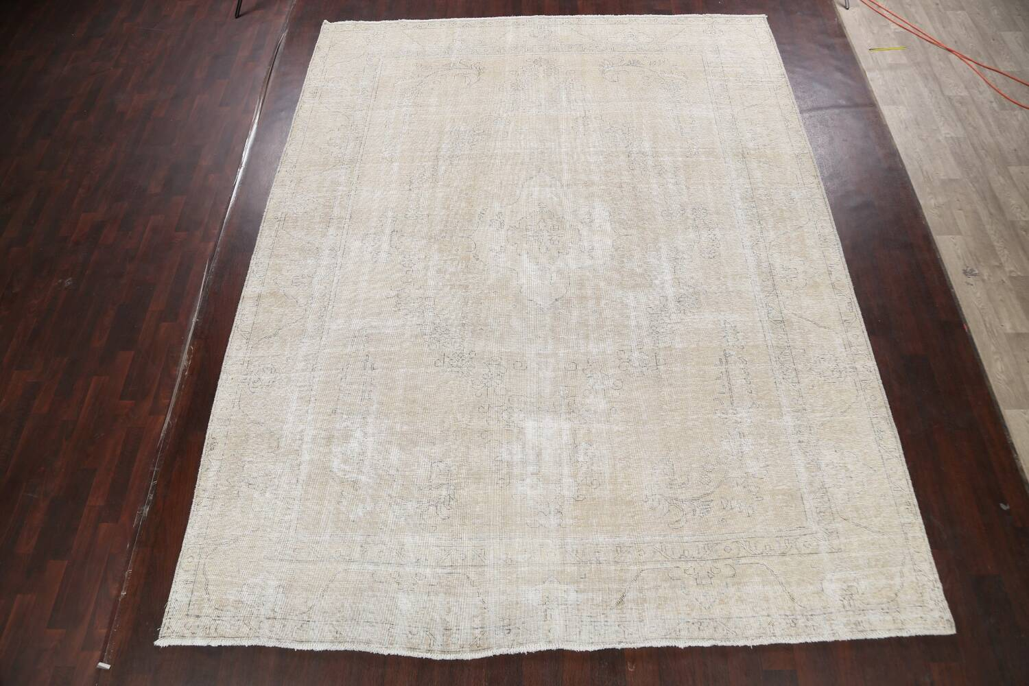 Muted Distressed Tabriz Persian Area Rug 10x13 image 2