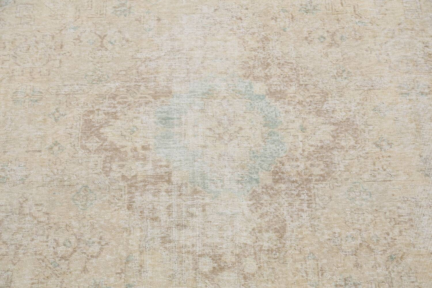 Antique Muted Distressed Tabriz Persian Area Rug 9x13 image 4