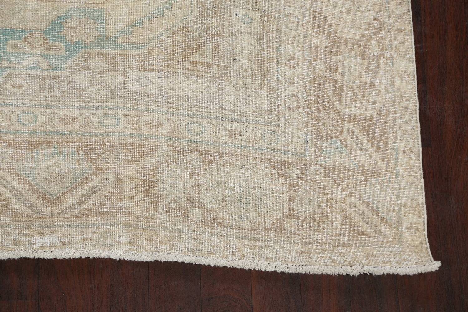 Antique Muted Distressed Tabriz Persian Area Rug 9x13 image 5