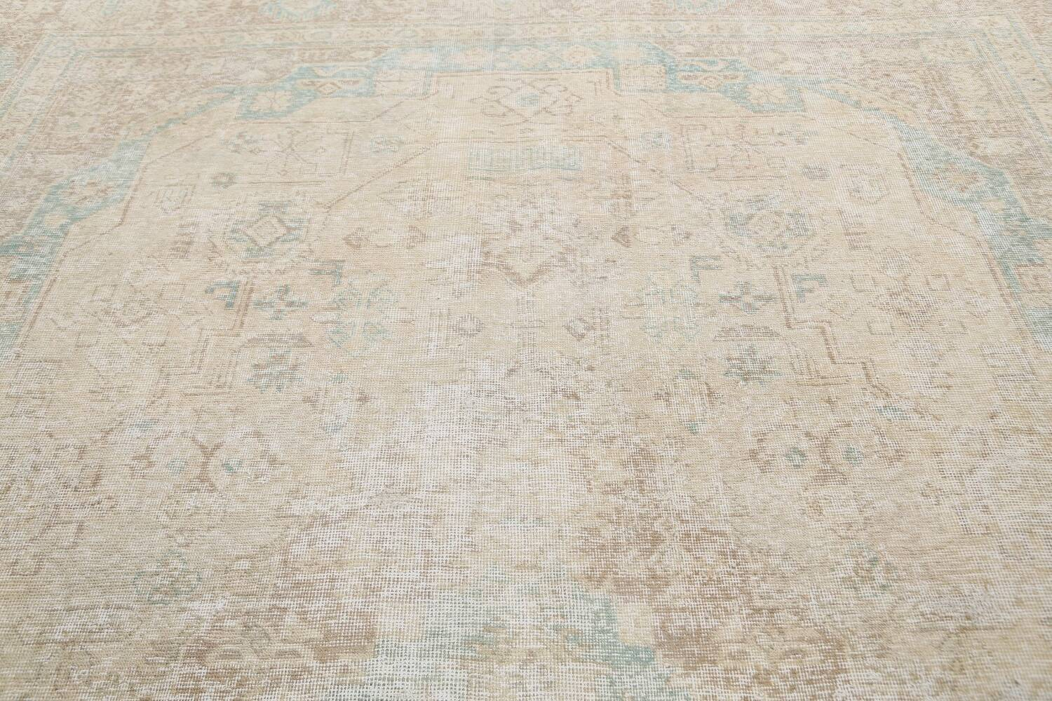 Antique Muted Distressed Tabriz Persian Area Rug 9x13 image 11