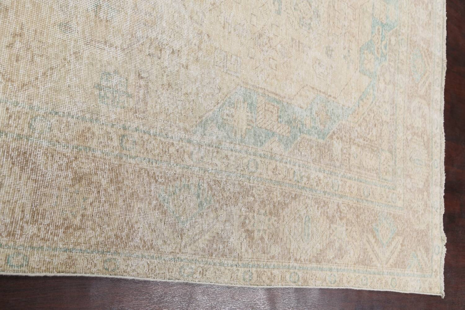 Antique Muted Distressed Tabriz Persian Area Rug 9x13 image 12