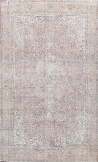Antique Muted Distressed Tabriz Persian Area Rug 10x13