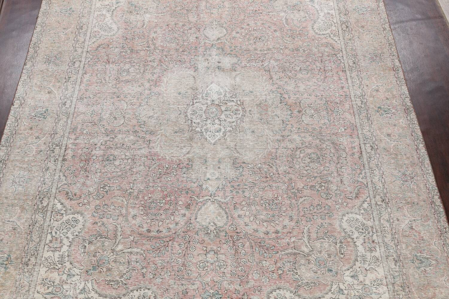 Antique Muted Distressed Tabriz Persian Area Rug 10x13 image 3
