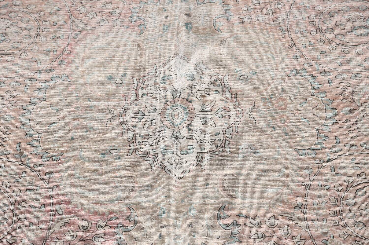 Antique Muted Distressed Tabriz Persian Area Rug 10x13 image 4
