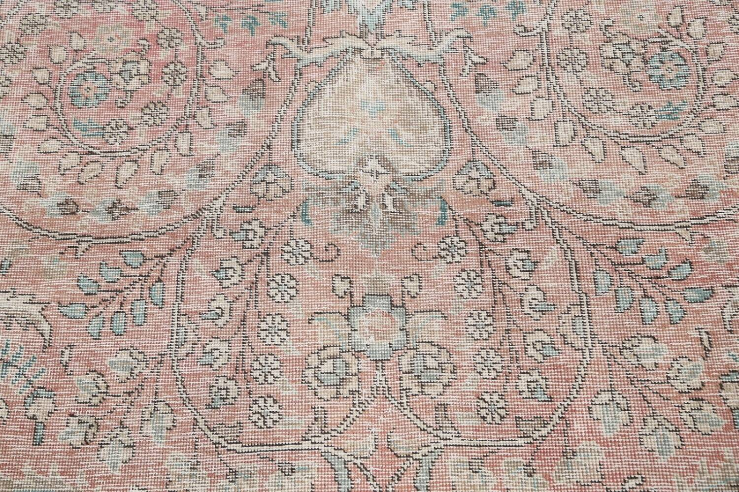 Antique Muted Distressed Tabriz Persian Area Rug 10x13 image 10