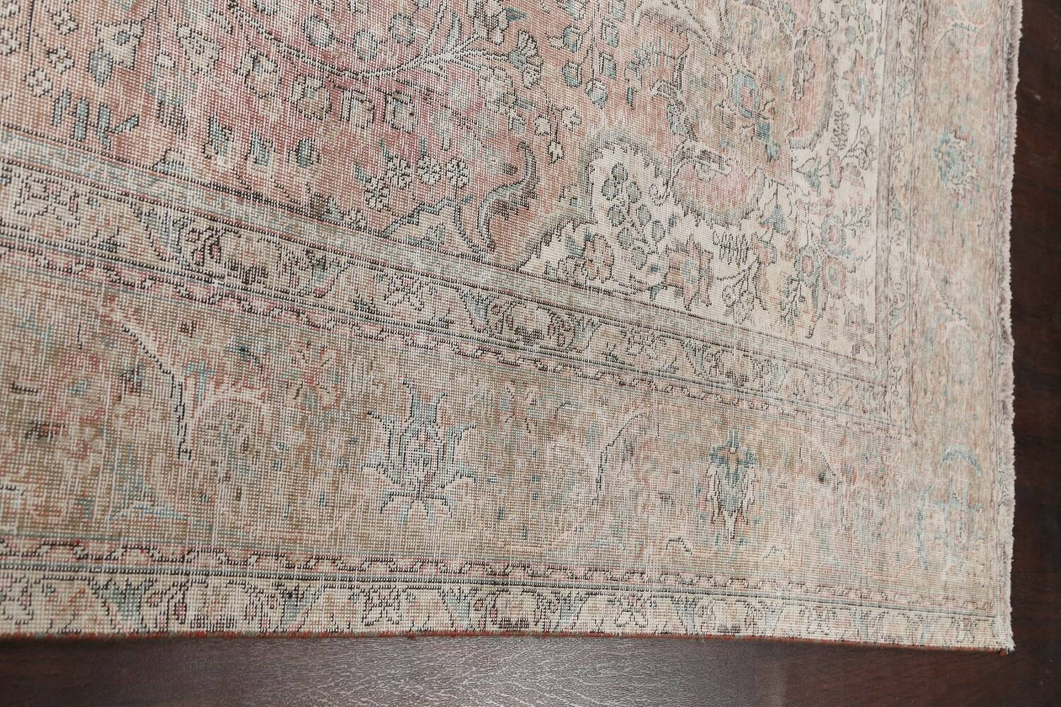 Antique Muted Distressed Tabriz Persian Area Rug 10x13 image 13