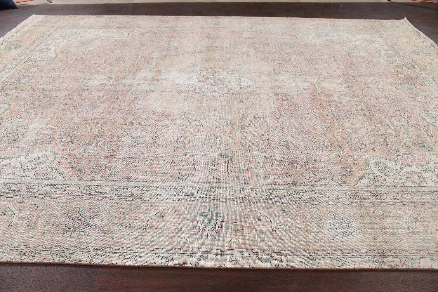 Antique Muted Distressed Tabriz Persian Area Rug 10x13 image 14