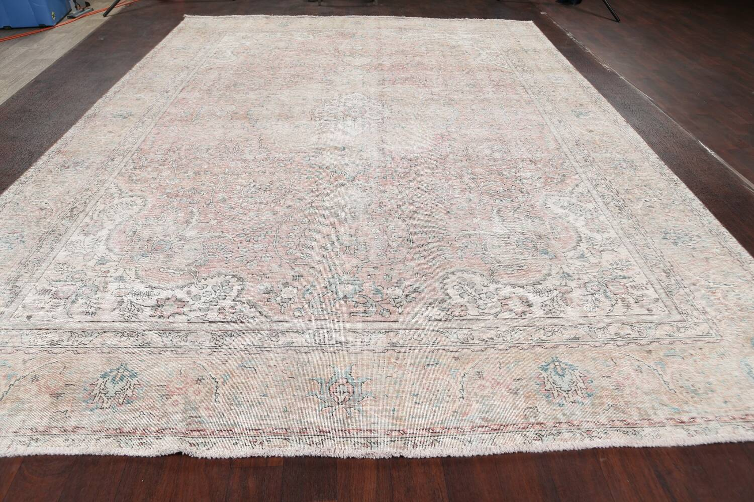 Antique Muted Distressed Tabriz Persian Area Rug 10x13 image 15