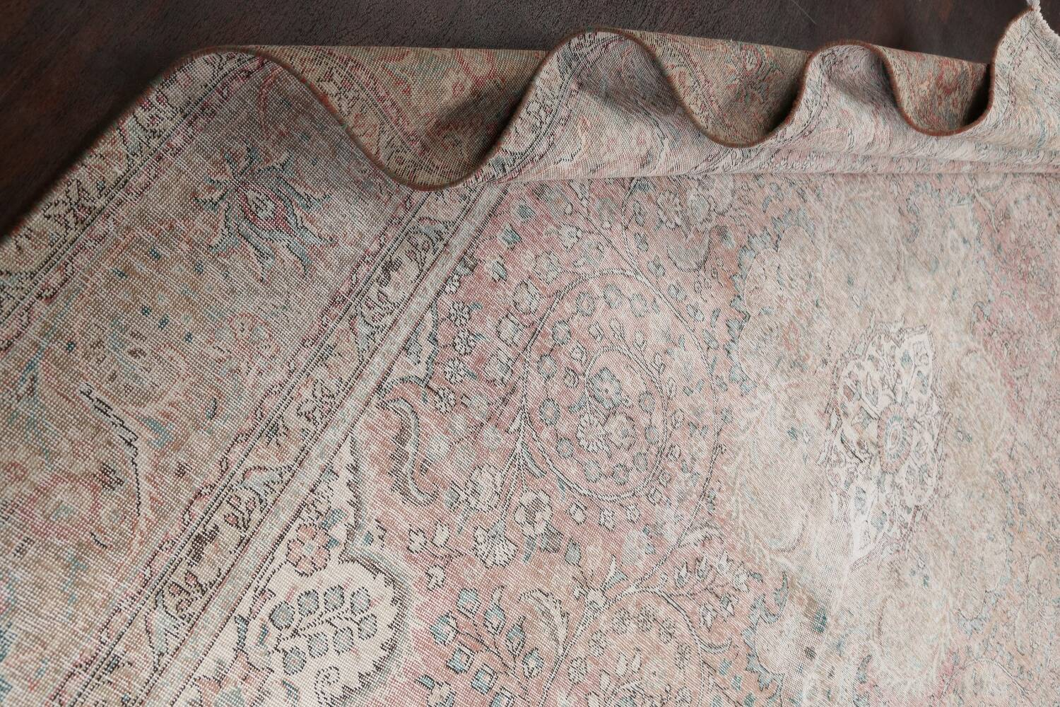 Antique Muted Distressed Tabriz Persian Area Rug 10x13 image 17
